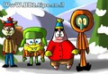 Spongebob And Friends In The Snow - happy-square-sponge fan art