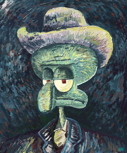 Squidward Art