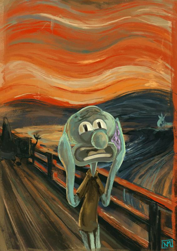 Squidward Art
