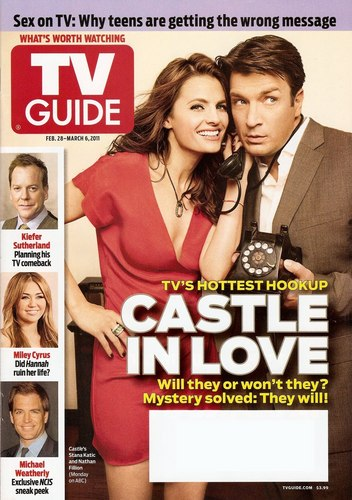 Nathan Fillion & Stana Katic karatasi la kupamba ukuta probably with anime and a portrait titled Stanathan - TV Guide <3
