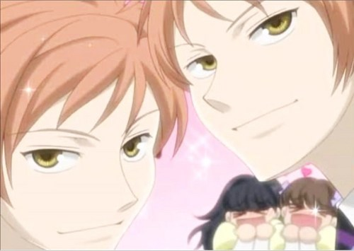 ouran high school host club wallpaper containing anime entitled The Hitachiin Twins