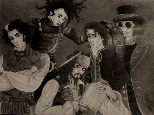 The Many Faces of Johnny - johnny-depp Fan Art