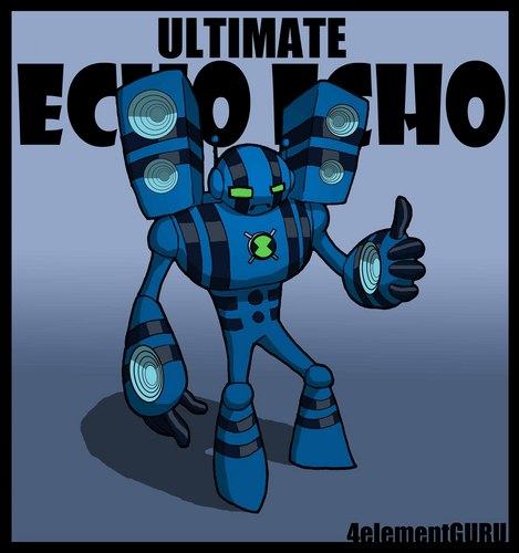 Ben 10: Ultimate Alien achtergrond with anime titled Ultimate Echo Echo