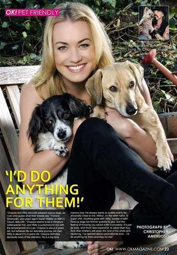 Yvonne Strahovski in OK Magazine 2011