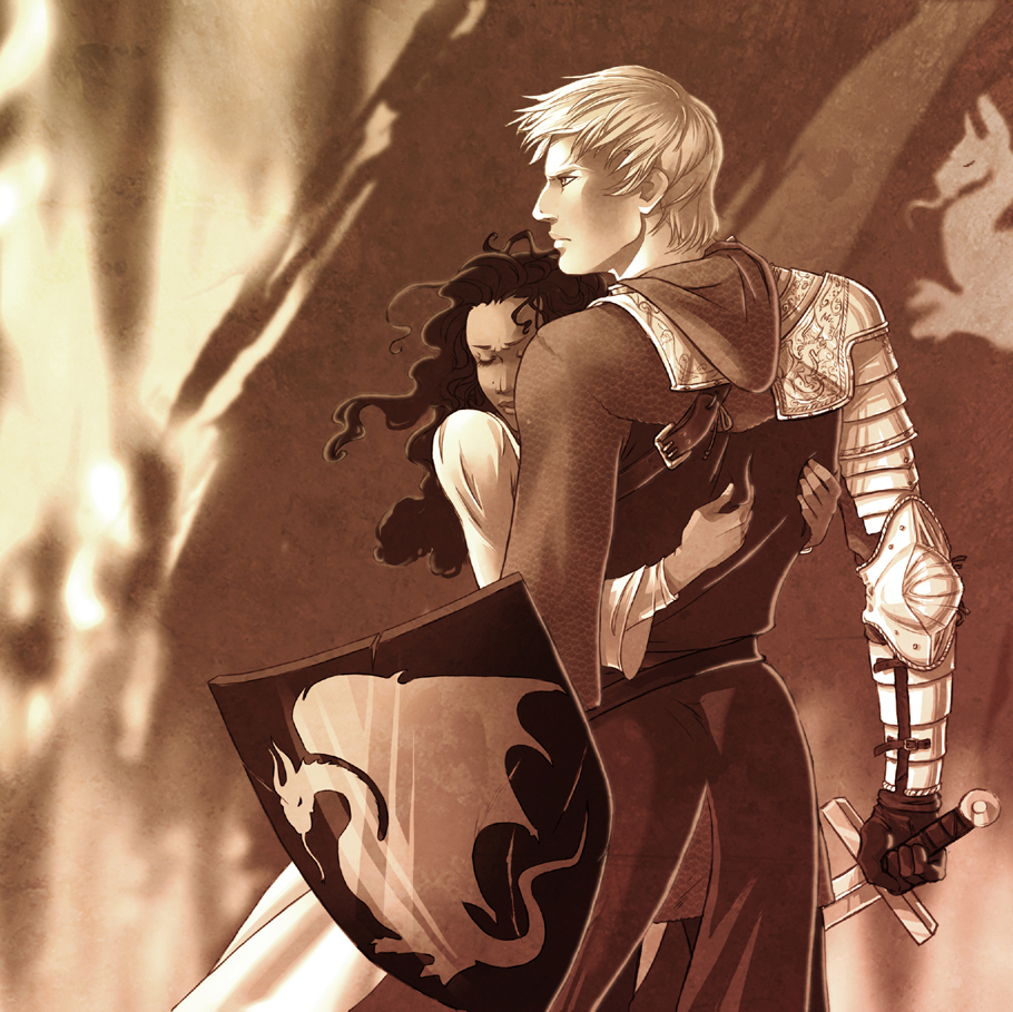 gwen and arthur art the legend of king arthur merlin