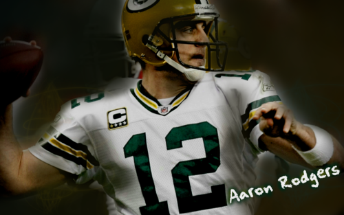 Green baía Packers wallpaper containing a football helmet, a tailback, and a atacante, lineman titled Aaron Rodgers wallpaper