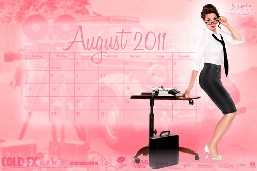 Amanda Tapping Pin Up Miss August