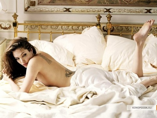 angelina jolie wallpaper possibly with a boudoir, a bedroom, and a single cama titled Angelina Jolie