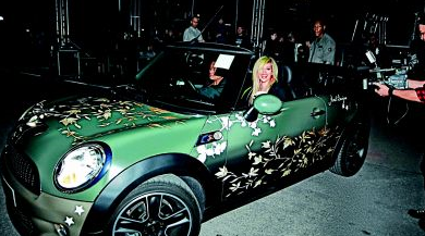 Avril in her GL car :P