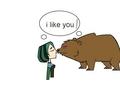 Bear and gwen kiss - total-drama-island fan art