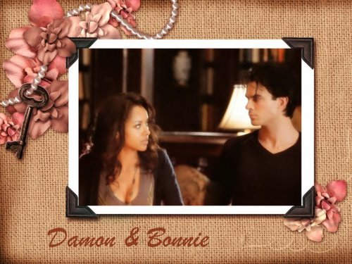 Bonnie&Damon ❤ - bonnie-mccullough-bennett Wallpaper