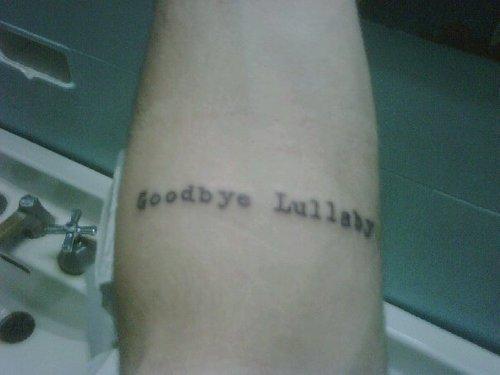 """Brazillian Fan Gets """"Goodbye Lullaby"""" Tattoo!"""