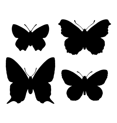 polyvore clippingg♥ wallpaper entitled Butterfly Silhouettes <3