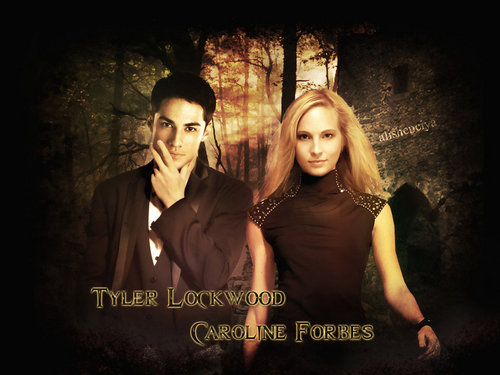 Tyler and Caroline wallpaper possibly containing a concert, a dinner dress, and a sign entitled Caroline&Tyler ღ