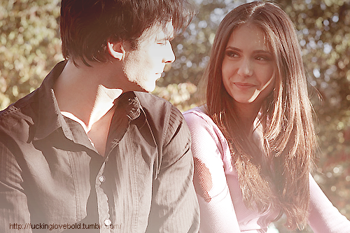 Damon/Elena - the-vampire-diaries-tv-show fan art