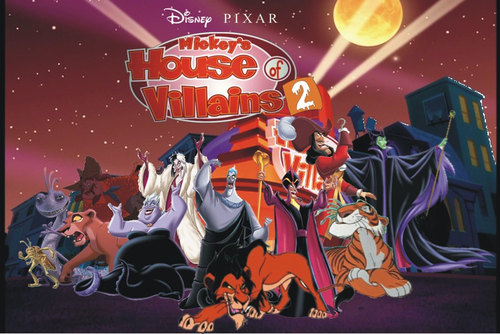 Disney Villains wallpaper with anime titled Disney PIXAR House of Villains 2.