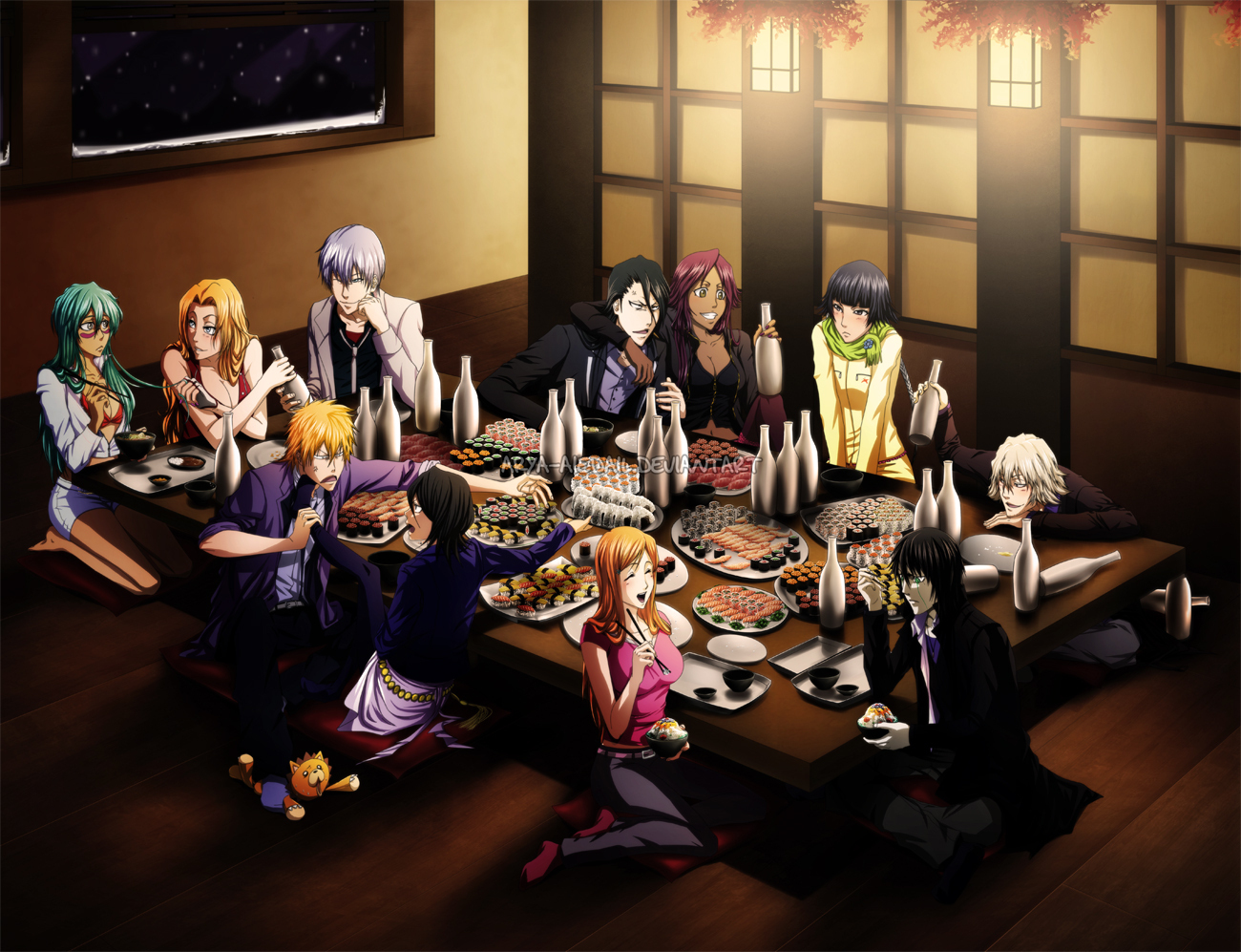 Anime Bleach Imagens Drinking Night Hd Wallpaper And Background