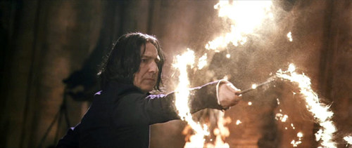 Severus Snape wallpaper containing a fountain and a concert entitled Expelliarmus! What now Lockhart?