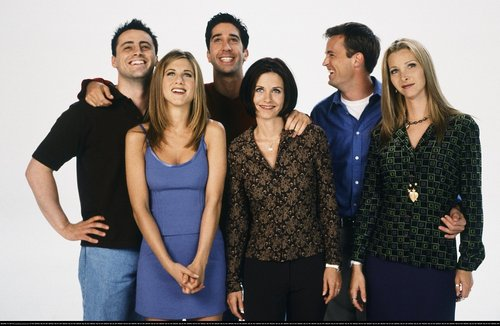 Friends wallpaper possibly containing a well dressed person called F*R*I*E*N*D*S