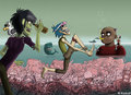 Gorillaz on Plastic Beach