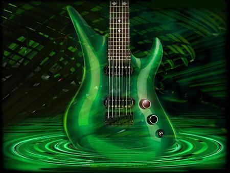 Green gitar