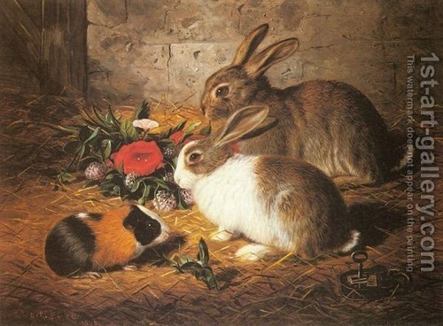 Guineapig in Oils (with rabbits)