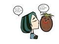 Gwen and mr. coconut Kiss. - total-drama-island fan art