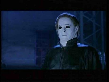 Michael Myers wallpaper possibly containing a television receiver called Halloween movies