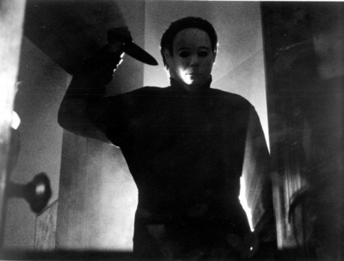 Michael Myers wallpaper possibly containing a sign called Halloween movies