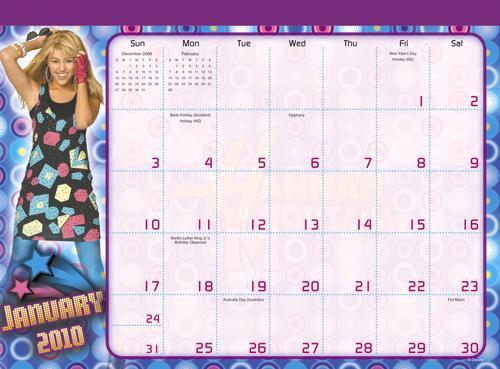 Hannah exclusive calender!