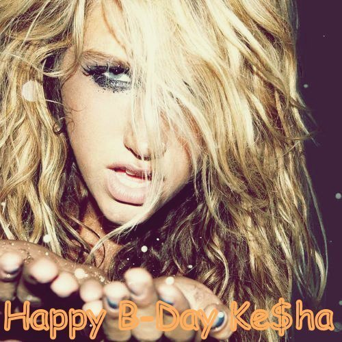 Ke$ha wallpaper containing a portrait called Happy B- Day Ke$ha