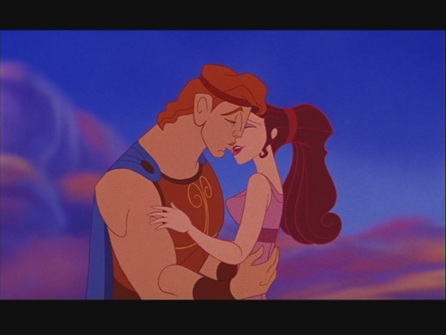 "Disney Couples wallpaper probably with a concert, a sign, and anime entitled Hercules and Megara (Meg) in ""Hercules"""