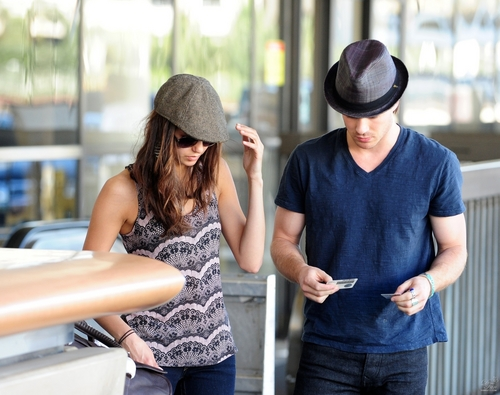 Ian Somerhalder wallpaper with a boater called Ian and Nina