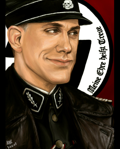 Inglourious Basterds wolpeyper probably with a fedora and a full dress uniform called Inglourious Basterds
