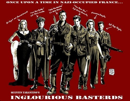 Inglourious Basterds fond d'écran with animé titled Inglourious Basterds