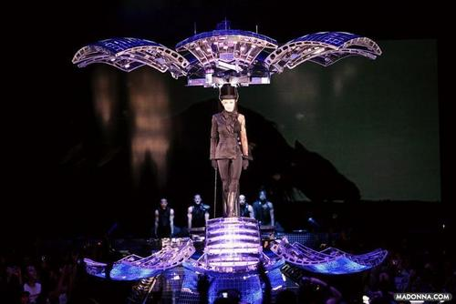 "Madonna wallpaper probably with a fountain entitled Madonna ""Confessions Tour"" Screenshots"