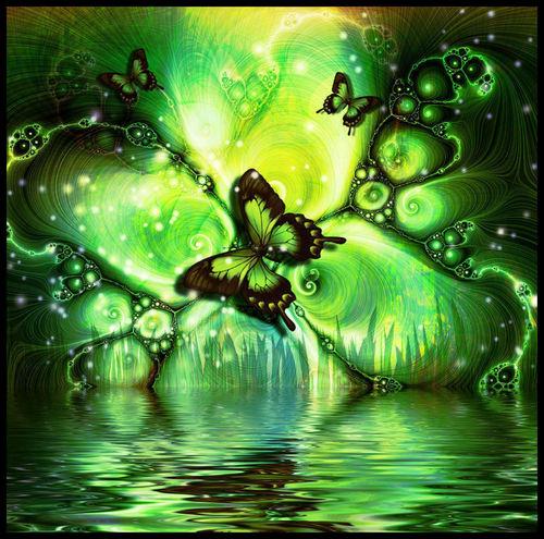 Green wallpaper titled Magic green