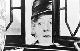 "Margaret Rutherford in ""Murder At The Gallop"""