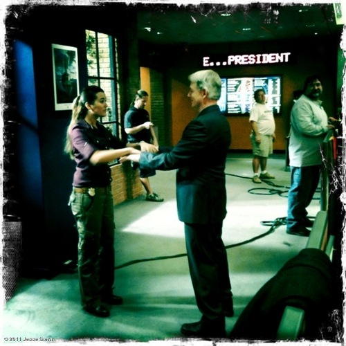 Mark and Cote playing slap hands