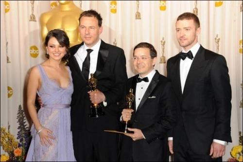 Mila @ 2011 Academy Awards Press Room