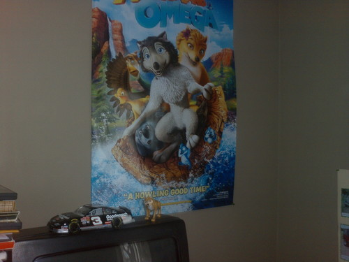 My A&O poster and Kate toy