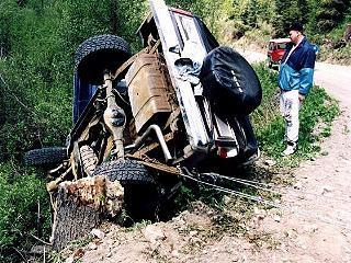 My ford bronco after my friend crashed it - ford-bronco Photo
