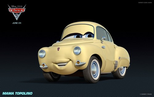 "Pixar fond d'écran possibly containing a sedan and a coupé called New characters from ""Cars 2"""