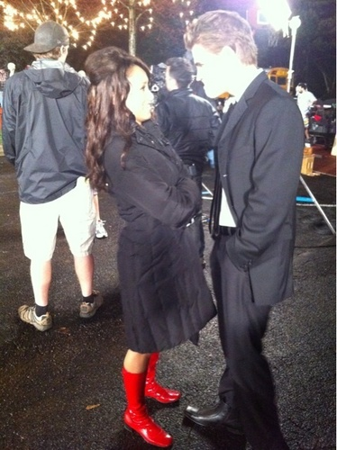 Paul and Kat behind the scene