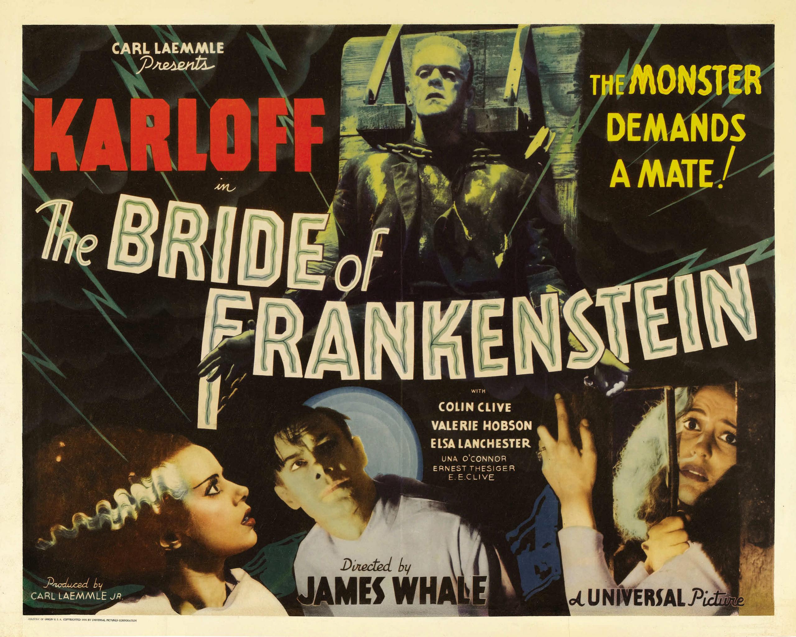 bride of frankenstein images poster art hd wallpaper and
