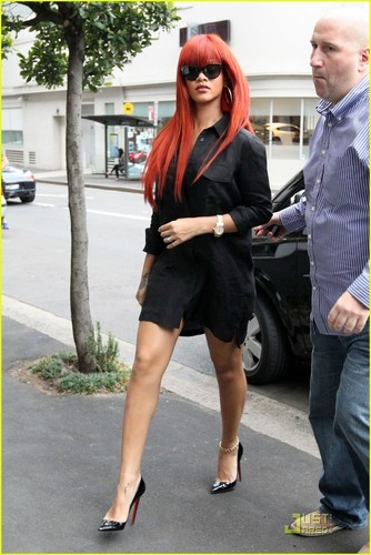 Rihanna out in Sydney