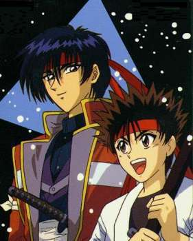 Sozo and young Sanosuke Sagara