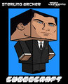 Sterling Archer Cubecraft