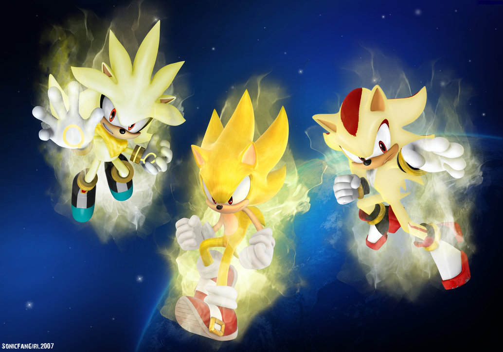 Sonic, Shadow, and Silver Super Hedgehogs