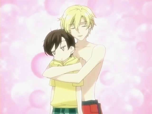 Haruhi and Tamaki Tamaki and HaruhiHaruhi And Tamaki Hug